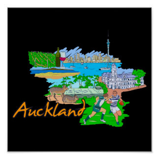 Auckland - New Zealand Poster