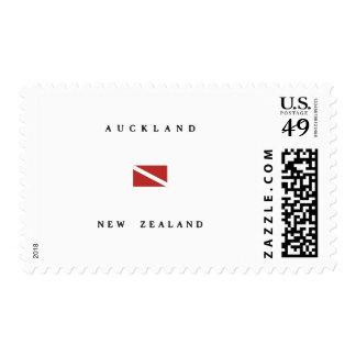 Auckland New Zealand Scuba Dive Flag Stamp