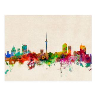 Auckland New Zealand Skyline Postcard