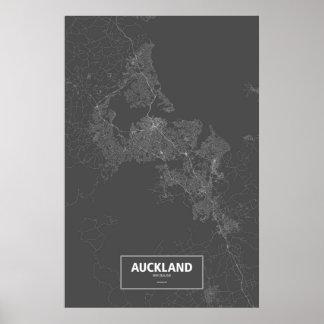 Auckland, Nueva Zelanda (blanco en negro) Posters
