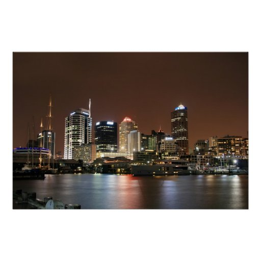 Auckland por noche poster