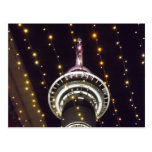 Auckland Sky Tower at Night Postcard
