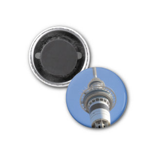 auckland sky tower top 1 inch round magnet