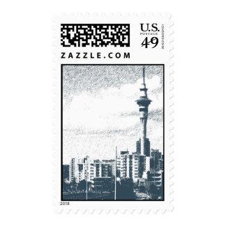 Auckland Skyline Postage Stamp