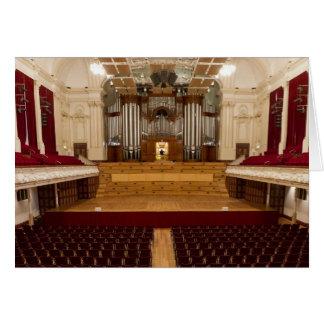 Auckland town hall organ card