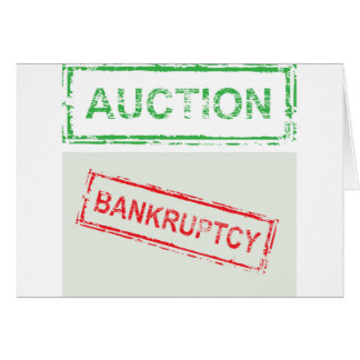 Auction Bankruptcy Card