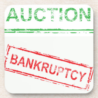 Auction Bankruptcy Coaster