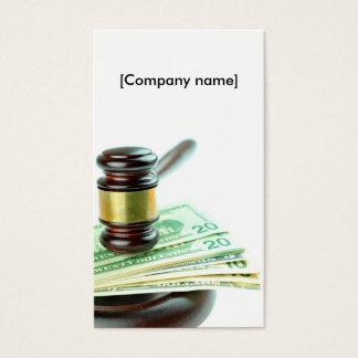 Auction business card