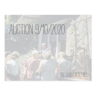 Auction, Ladies Bidding Auctions Highest Bidder Postcard