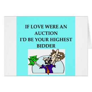 AUCTION lovers Greeting Cards