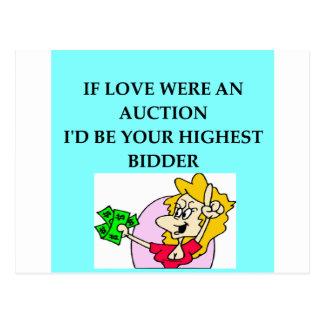 AUCTION lovers Postcard