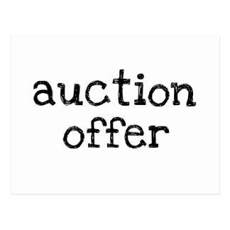 Auction Offer Postcard