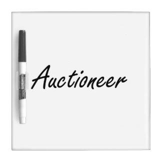Auctioneer Artistic Job Design Dry Erase Whiteboards