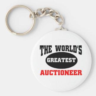 Auctioneer Basic Round Button Keychain