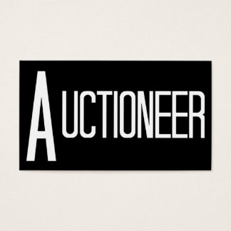 Auctioneer Black Simple Business Card