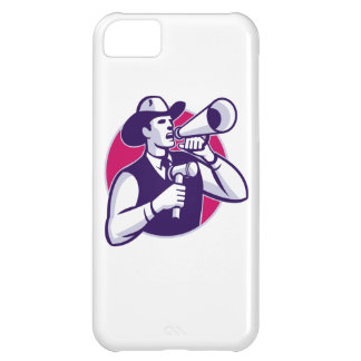 Auctioneer Cowboy With Gavel And Bullhorn iPhone 5C Cover