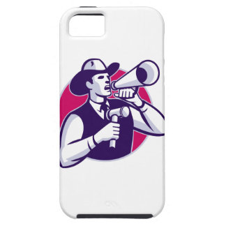 Auctioneer Cowboy With Gavel And Bullhorn iPhone 5 Cover