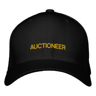 AUCTIONEER EMBROIDERED HAT