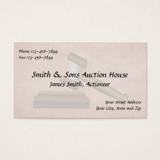 Auctioneer Judge Business Card