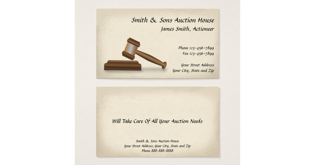 Gavel Business Cards & Templates   Zazzle