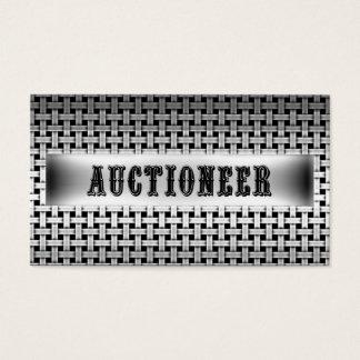 Auctioneer Metal Look Business Card