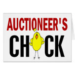 Auctioneer's Chick Card