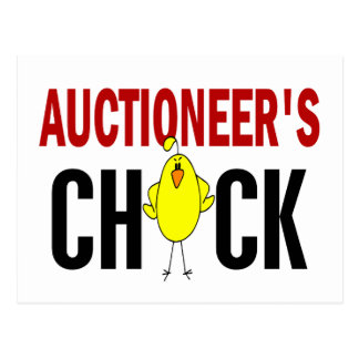 Auctioneer's Chick Postcard