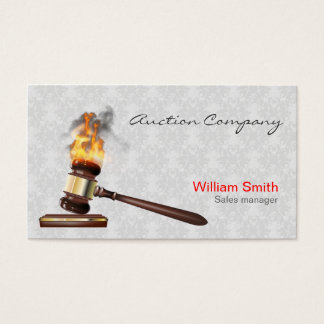 Auctioneer Services Business Card
