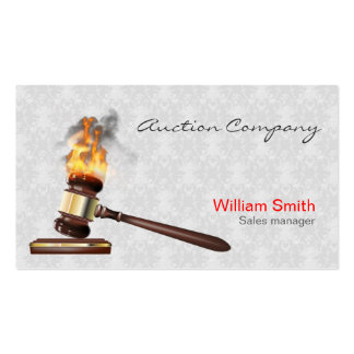 Auctioneer Services Double-Sided Standard Business Cards (Pack Of 100)