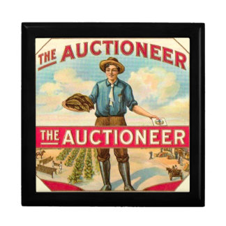 Auctioneer Vintage Cigar Label Jewelry Box