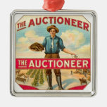 Auctioneer Vintage Cigar Label Metal Ornament