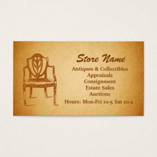 Auctions, Antiques and Collectibles Business Card