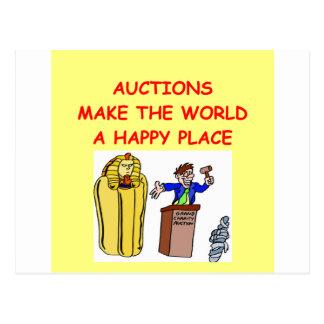 auctions postcard