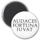 Audaces Fortuna Juvat 2 Inch Round Magnet