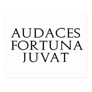 Audaces Fortuna Juvat Postcard