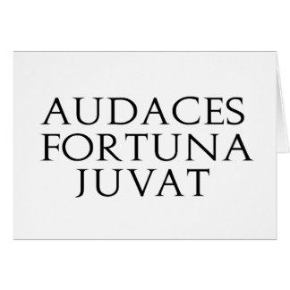 Audaces Fortuna Juvat Tarjeta De Felicitación