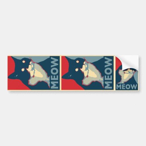 Audacity of Meow Sticker Set Car Bumper Sticker