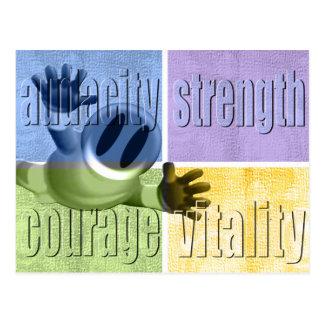 Audacity Strength Courage & Vitality Postcard