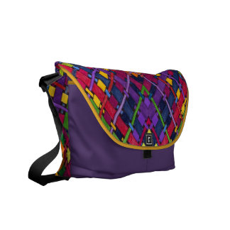 AudArrt Rickshaw Messenger Bag - Bright Weave, par