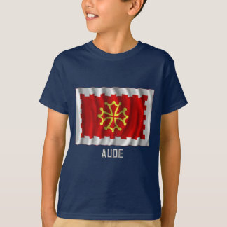 Aude waving flag with name T-Shirt