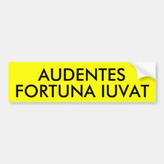 AUDENTES FORTUNA IUVAT BUMPER STICKER