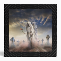 ghost, graves, cross, angel, angels, flower, death, ground, sky, clouds, guard, fog, misticus, spirituality, inspirational, spiritual, mythological, figures, vision, color, visual, dark, monk, heaven, past, houk, art, artwork, illustration, digital art, digital realism, surreal, surreal art, fantasy, fairytales, gifts, gift, eerie, gothic, adorable, Binder with custom graphic design