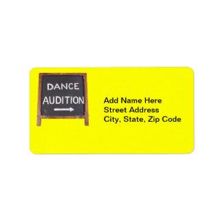 Audición de la danza etiquetas de dirección