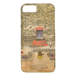 Audience Chapel at the Vatican (colour engraving) iPhone 8/7 Case