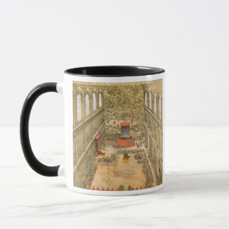Audience Chapel at the Vatican (colour engraving) Mug