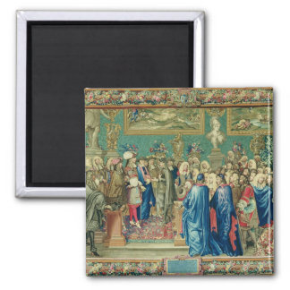 Audience Granted by Louis XIV  to the Count Magnet