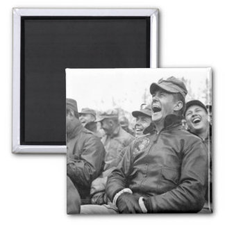 Audience reaction to the Bob_War Image 2 Inch Square Magnet