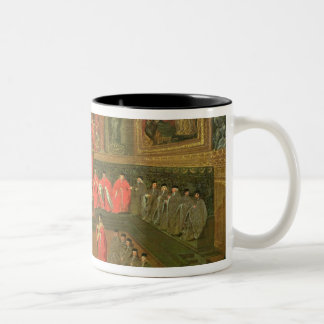 Audience with the Doge in Two-Tone Coffee Mug