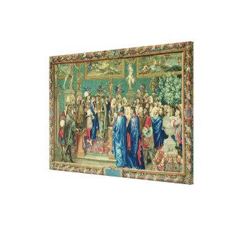 Audiencia concedida por Louis XIV a la cuenta Lona Envuelta Para Galerias