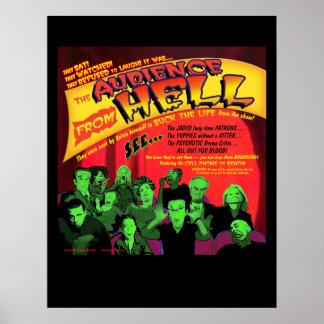Audiencia del poster del teatro del infierno